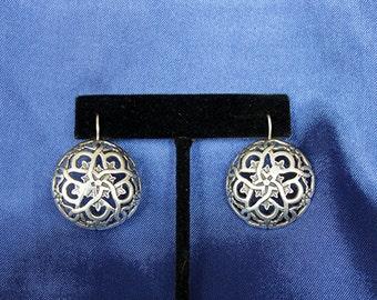 Sterling Silver Concho Earrings - Southwest style Earrings