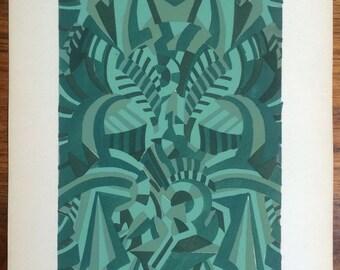 Stephany Art Deco pochoir print, circa late-1920s