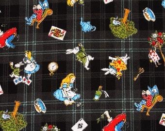 Alice in Wonderland Fabric made in Japan / Half Yard 18inch x 43inch