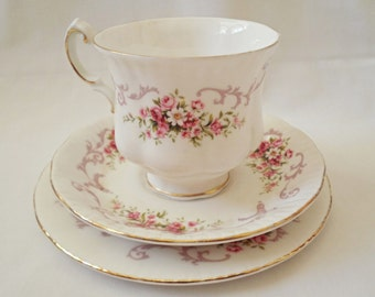 Paragon Rose Bouquet Trio Cup Saucer and Tea Plate