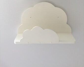 Nursery cloud shelf painted white ready to hang new