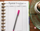 EXPENSE TRACKER Happy Planner Printed Inserts, Happy Planner Finance Reporting Forms, Debt Snowball, Create 365 Planner Refills, HPFCL01B