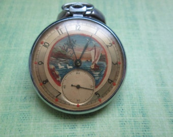 Molnija vintage soviet pocket watch 1955