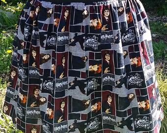 Harry Potter Skirt - Women's Harry Potter Skirt - Women's Flared Skirt - Skirt with Pockets - Elastic Waist Skirt