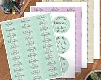 Printable Labels For Your Packaging! Handmade Collection, Handmade with love,