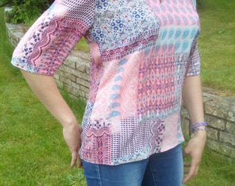 Shirt women size 38/40 polyester chiffon