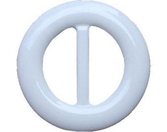 White Round Lucite Belt Buckle     (BB-RO-020)