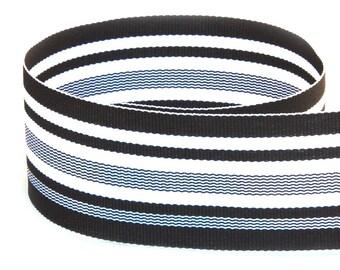 Midnight Waves Woven Grosgrain Ribbon     (08-112-ST-250)