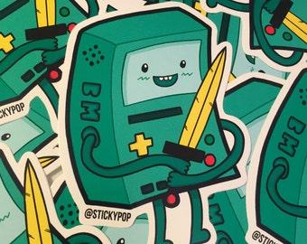 BMO Vinyl sticker - Adventure Time sticker, Beemo Vinyl Sticker