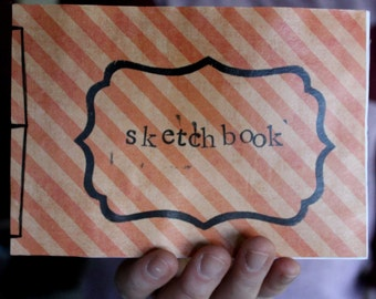Orange Striped Sketchbook