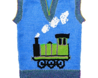 Knit train motif Etsy