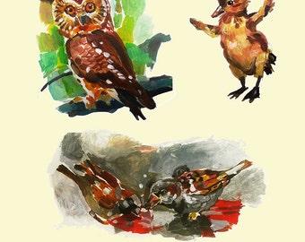 Set Of Birds