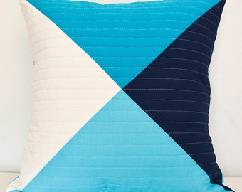 Nautical Blues Quilted Pillow