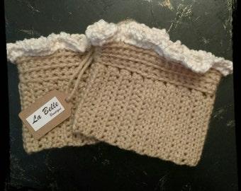 Ruffled Crochet Boot Cuffs