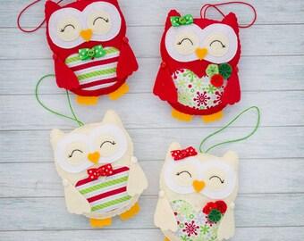 Christmas owls Cute owls Decorative owl Stuffed owls Nursery decor Xmas ornament Christmas Gift for her Christmas tree toy Christmas decor