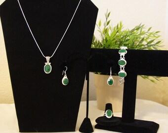 India Costume Jewelry set- Green