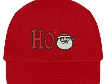 HOHOHO SANTA Embroidered Christmas Themed Cotton Baseball Cap - 5 Colors! (LOG294-SAN-CP77)
