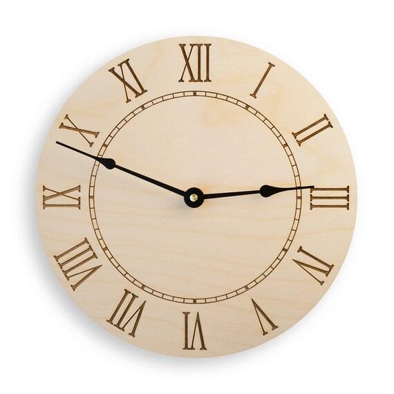numeral large wall clock rustic clock modern clock