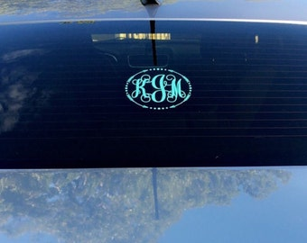 Monogram car decal, monogram decal, car decal, vinyl decal