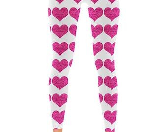 Hearts Print – Leggings
