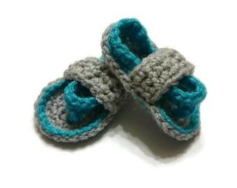 Crochet Baby Flip Flops- 3 inch sole