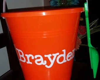 Personalized Beach Buckets & Pails