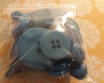 Mix Blue Buttons