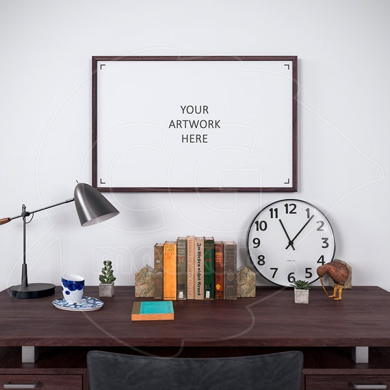 11x17 wood frame mockup digital product mockup