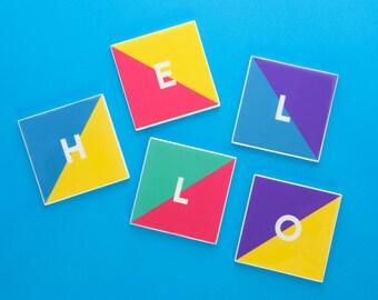 Ceramic Coasters (Letters)