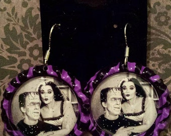 Herman and Lily Munster Earrings