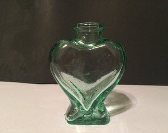 Heart Shaped Glass Bottle Etsy Uk