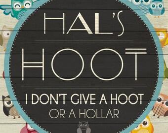 Custom Hoot Sign Digital Download