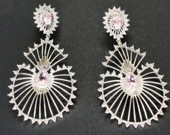 Elegant Sparkle Statement Earrings