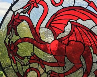 Targaryen Sigil (stained glass)