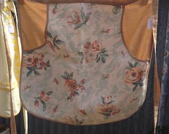 Brown floral apron
