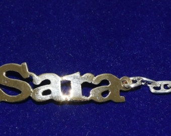 Customize your name on Hall marked Egyptian Silver and Gold Plated Bracelet