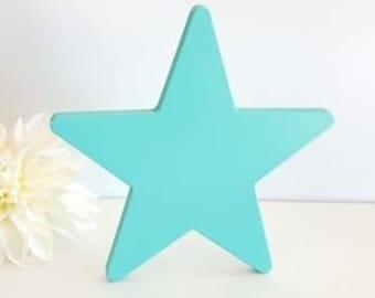 Wood star 20 cm.