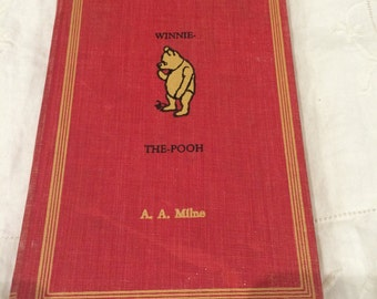 Vintage Winnie The-Pooh 1961 book, by A.A. Milne , Red Hard Cover With Winnie The- Pooh on Front