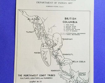 The Northwest Coast Tribes, cultures, locations, and numbers