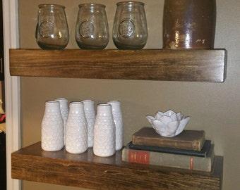 Set of 2 Floating Shelves, Fixer upper, rustic Decor, farmhouse Decor, Wood shelves, handcrafted, custom, Wall Decor, storage, shelves