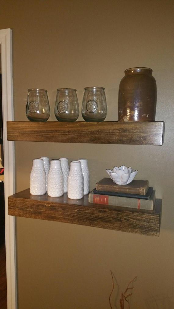 Items Similar To Set Of 2 Floating Shelves Fixer Upper