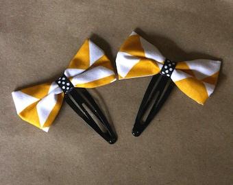 Barrettes Click - Clack mustard-yellow