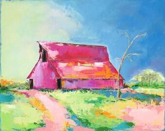 Barn of Dreams: Fine art giclee barn print from original acrylic painting