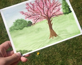 "Original watercolour painting - ""Cherry Blossom"""