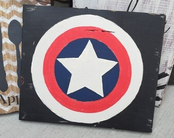 Captain America Wood Sign