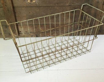 Vintage Wire Freezer Basket with Handles