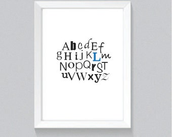 alphabet nursery print