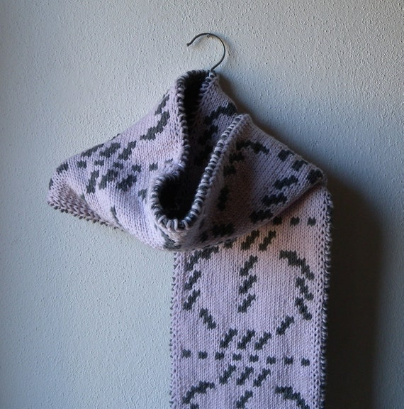 Scarf knitting pattern, reversible scarf, double knit ...