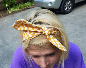 UT Checkerboard Headband