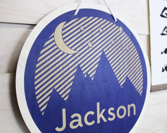 Personalized Mountain Sign